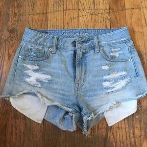 🖤 high waisted ripped denim shorts!